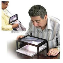 Hand free Standing Foldable LED magnifier lamp