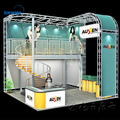 Custom double deck booths two level booth trade show double deck
