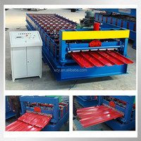 Cut to Length Profile Metal Trapzoidal Steel Tile Cold Roll Forming Machine Roll Former profile metal roof panels machine