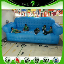 PVC Inflatable Blue Sofa /Giant Inflatabel Chair / Soft Inflatable Air Bed