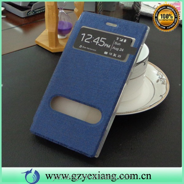 China Made Flip Leather Case For Xiaomi Mi3 Mobile Phone