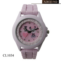 2013 hot sale pretty silicone girls hello kitty watch