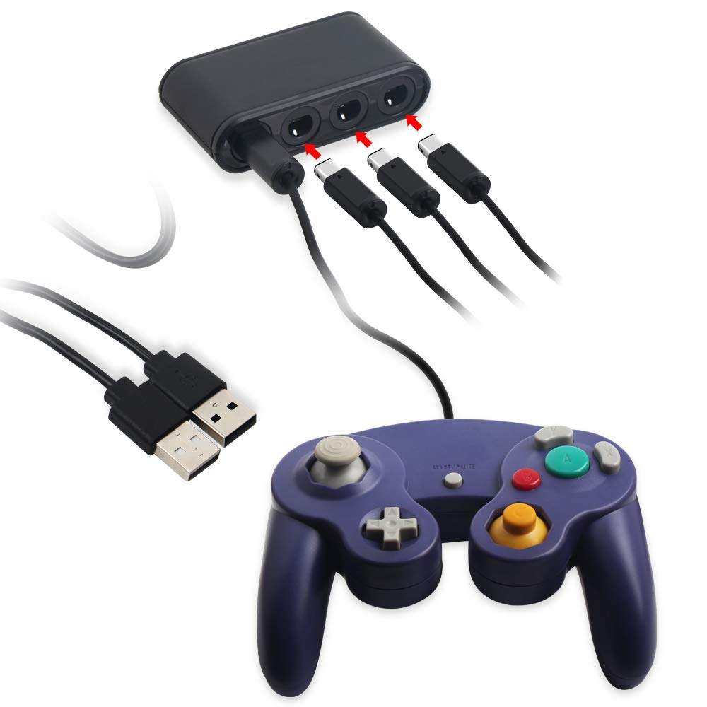 USB Converter Gamecube NGC Controller Adapter for Wii U /Switch and PC Upgrade Version