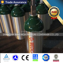 1L Capacity Medical Oxygen Cylinder with Valve Aluminum