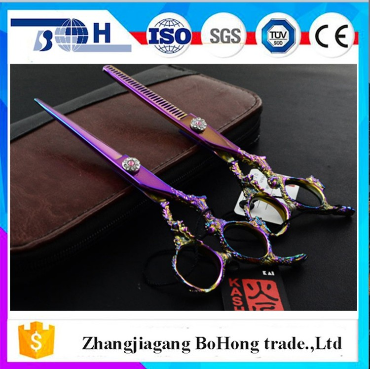 Free sample 2017 hot scissors for hair cutter with custome logo