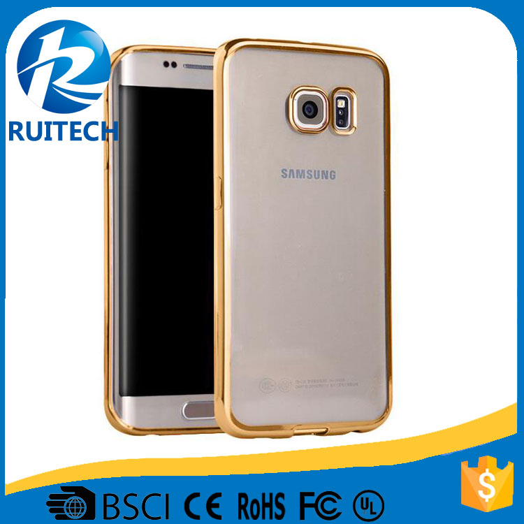 For samsung galaxy S7 edge ultra slim case, tpu+pc shockproof case cover for samsung s7 edge