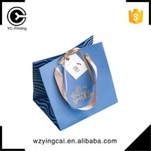 Custom make white bag with gold logo paper shopping bags for shoes