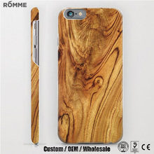 Professional phone case manufacturer provide and custom color wood print case for iphone 6 6s