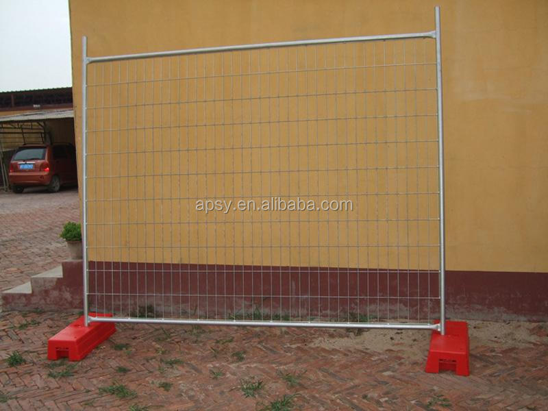 Temporary Fencing system construction fencing fence panel with clamp and base