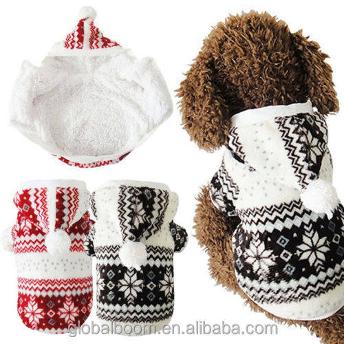 Hot Soft Winter Warm Pet Dog Clothes Snowflake Pet Costume Clothing Jacket Teddy Hoodie Coat
