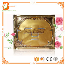 Private Label Bio Cellulose Crystal Firming Whitening Lifting 24k Pure Gold Face Mask for Spa