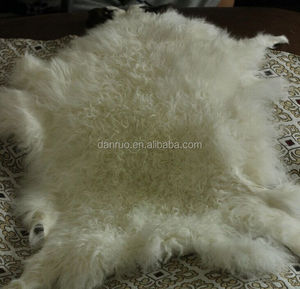 Fashion Tibetan Lamb Rug Goat Skin Blanket Sheep Skin Curly Fur Plate