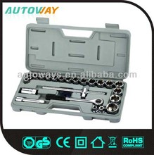25PCS Tool Set,Tool Kit,Box Spanner Socket Set