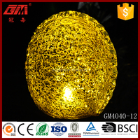 Top Quality Hand Blown Large Yellow LED Spray Silver Glass Walnut
