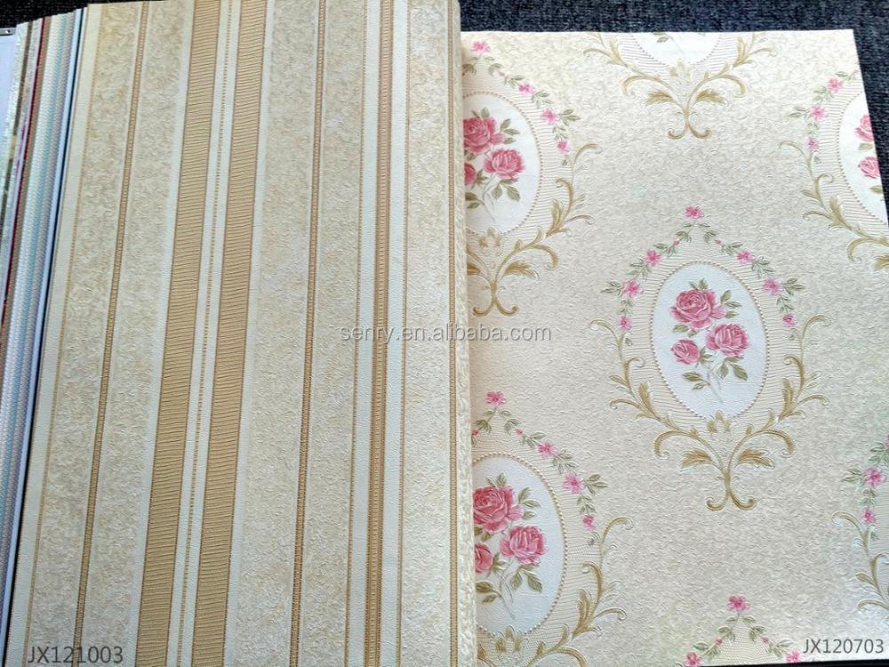 High quality Breath Home Decoration oriental PVC luxury Non-woven Backed Vinyl Coated Wallpaper