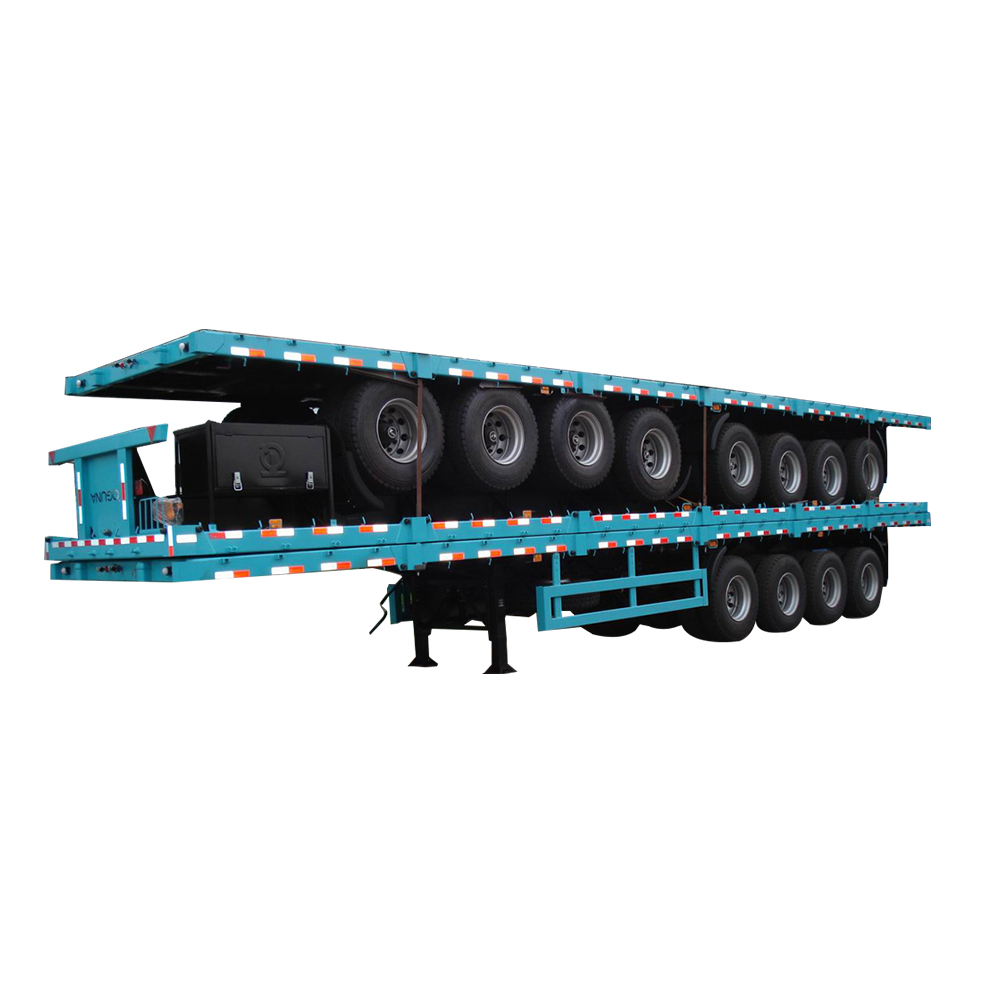 30 ton low flatbed container tansport semi trailer for hot sale