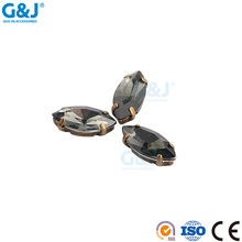 guojie brand wholesale beautiful oval claw with black acrylic stone