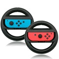 Twin Pack Wireless Steering Wheel For Nintendo Switch Left & Right Joy-cons, Makes Racing Games More Fun And Realistic