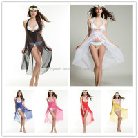 2015 Newest Fashion Sexy Sheer Transparent Beach Wear Bikini Cover Up Dress