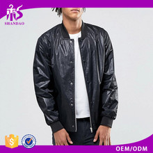 Guangzhou Shandao Leather Plain Black Rain and Wind Proof Coat american football jackets