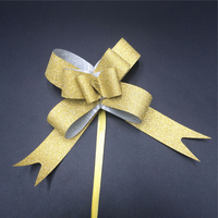 Wholesale gift wrapping decoration pull string ribbon bow