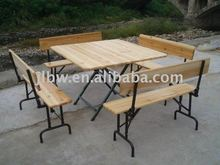 Outdoor Wooden Folding Table and Chair