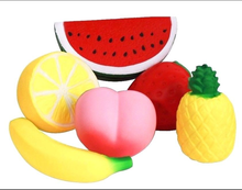 6PC Squishies Jumbo Fruit Squishy Set Slow Rising Stress Relief Toys