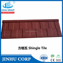 JINHU manufacturer red stone coated metal roof tile in kerala