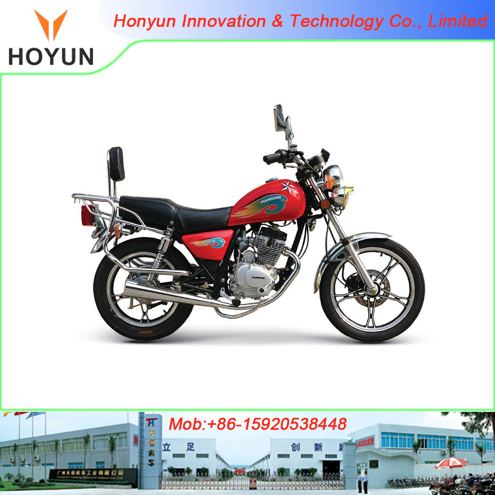 Hot sale in Tanzania Togo Panama Bolivia big luggage rear carrier HOYUN PEGASUS GN GN125 TH125-GN motorcycles