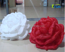 big inflatalbe rose for wedding decoration/cheap wedding inflatable rose/wedding stage decoration inflatable flower chain