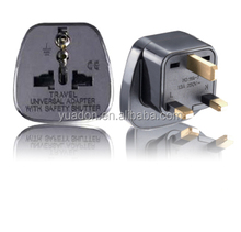 Hot sales universal germany to uk adapter plug female to male electrical plug adapter