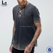 Guangzhou factory mens 95 cotton 5 spandex t shirts wholesale acid wash blank t shirts