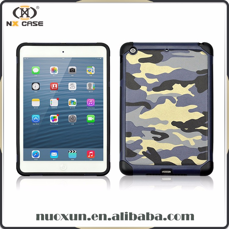 Guangzhou camouflage design leather for ipad case,cover for ipad cover