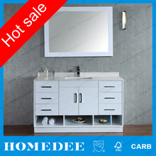 white lacquer 48 inch oak wood bathroom vanity with top for hotel