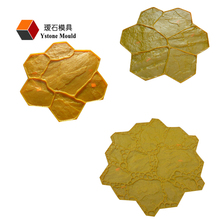 Soft Rubber Concrete Imprint Moulds For Pavement