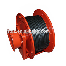 Retractable plastic spring cable reel