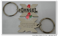 Customized 2d metal keychain with colors