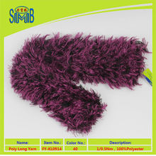 Wholesale Hot selling winter polyester fancy yarn for feather scarf fluffy yarn knitted scarf faux fur knitted scarf