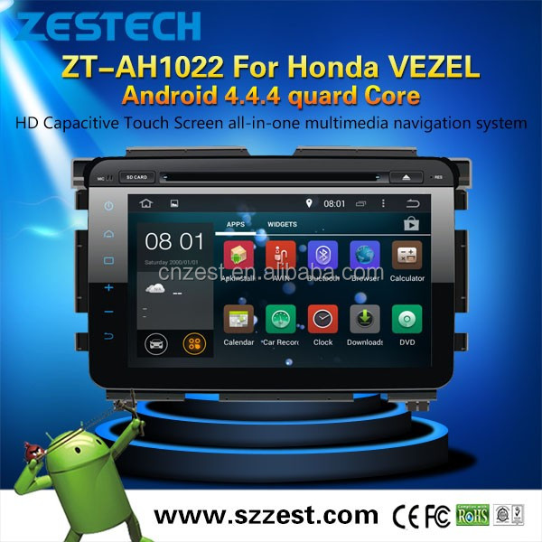 10.2 inch Android 4.4.4 car LCD monitor for Honda Vezel car radio player with GPS Steering wheel control Bluetooth 5.0 RDS DDR