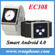 New EC308 Smart Android 4.0 Watch phone 512M + 4GB MTK6517 Android wrist Phone - 2.0M Camera - Wifi - GPS Muti-languag Support