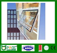 Adjustable Window Tint, Double Glazed Aluminium Top Hung Window For Prefeb Houses PNOC0064THW