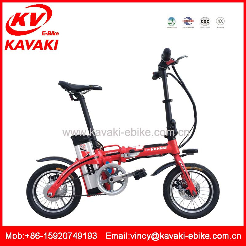 Made in china rechargebale powerful 48V10Ah mini two wheel electric folding e-bike/bike/bicycle for sale