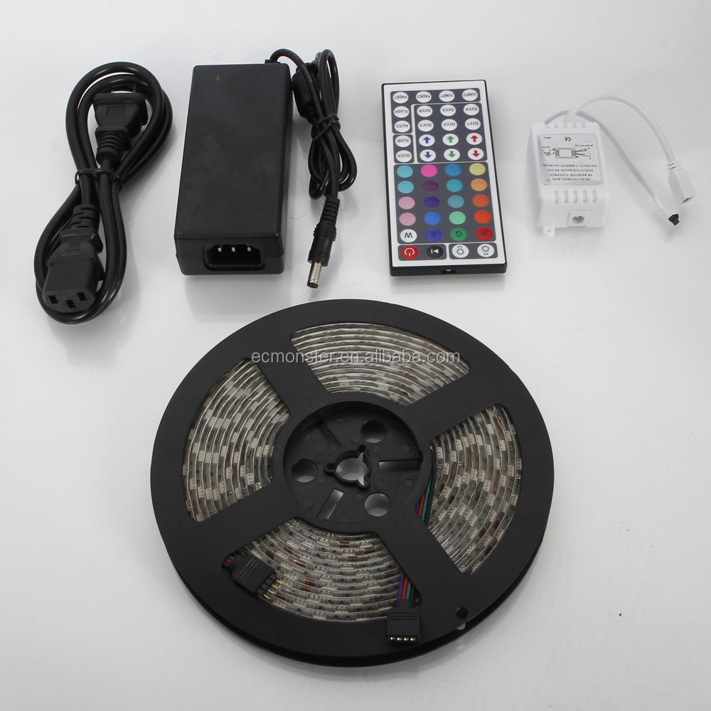 5M SMD <strong>RGB</strong> 5050 Waterproof LED Strip Car Light 300 & IR44 Remote & Power Supply