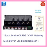 16 port Goip gateway Mobile voip sim bulk sms HTTP