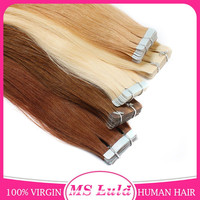Best selling items wholesale 100% brazilian virgin remy pu skin weft tape hair extension human hair