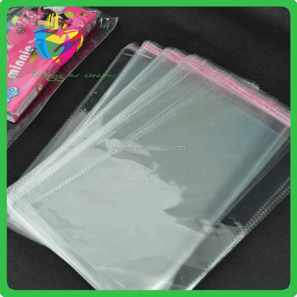 Clear OPP Plastic Packing Bags with Header and Self adhesive custom cellophane bags