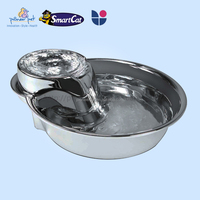 Pet stainless steel fountain, large dog bowl