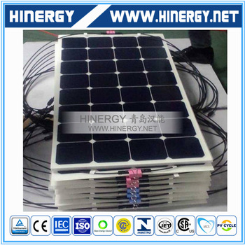 back contact flexible pv panel 100W 120W 130W 150W 180W 200W semi flexible solar panel boat