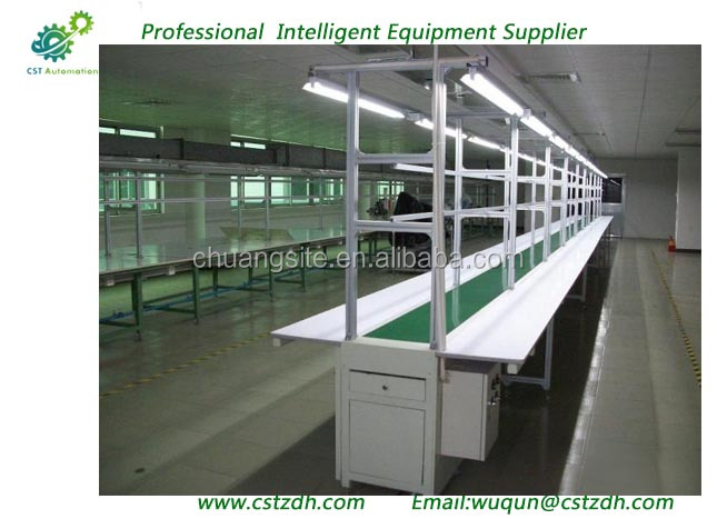 high efficiency flat logistics belt assembly conveyor