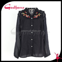 China Wholesale Casual Emboriered Blouse